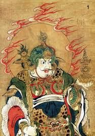 Bishamon is the God of War. He protects soldiers, banishes demons, and protects against disease.