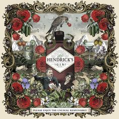 Enter the wonderfully peculiar world of Hendrick's Gin to discover our 11 botanicals and their curious secrets. Art Cabinet, Gin Tasting, Alcohol, Blog Images, Liquor Bottles, Hendrick's Gin, Gin And Tonic, Vintage Labels, Botanical Art