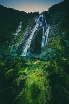 This waterfall at Milford is one of those amazing things that churns away all day. Waterfalls that generate a ton of water constantly impress me. It's hard to get my head around all the water that is in movement all the time, and it's even more impressive that so much fresh water can be generated without end…  - Milford Sound, New Zealand  - Photo from #treyratcliff Trey Ratcliff at http://www.StuckInCustoms.com