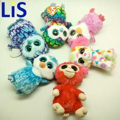 Lis Ty Beanie Boos Monkey Owl Penguin 6inch Big Eyes Beanie Baby Plush Stuffed Doll Toy Collectible Soft Plush Toys Kids Gift