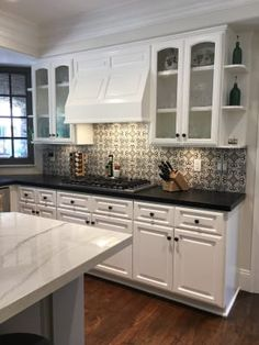 Check out this necessary illustration and also look at today important info on Small Kitchen Renovation Ivory Kitchen Cabinets, White Cabinets White Countertops, Black Kitchen Countertops, Off White Cabinets, Kitchen Island, Kitchen Appliances, Old Kitchen, Updated Kitchen, Kitchen Decor