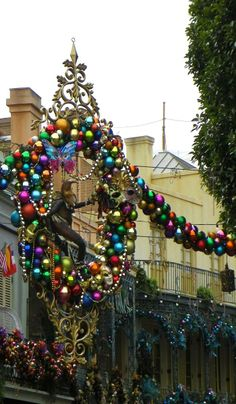 New Orleans Square at Christmas.. Louisiana, U.S