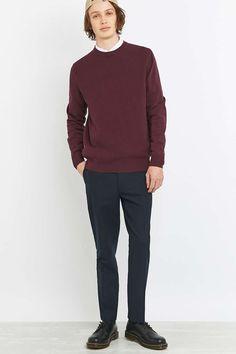 Farah - Pantalon court Berkley en tissu gaufré bleu marine