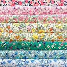 Happy Valentines Day  Another beautiful selection by one of our clever customers - All but one of these fabrics are from the new Classics that arrived last week.❤️It's a little Liberty rainbow and we LOVE it ....