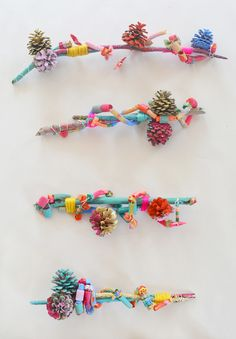 Art Assemblage with Kids // Pinecones & Pasta - Art Bar : Winter Preschool Nature Art Activities: Pinecone Pasta Wire Art Assemblages Kids Crafts, Craft Stick Crafts, Projects For Kids, Diy For Kids, Art Projects, Arts And Crafts, Craft Ideas, Summer Crafts, Play Ideas
