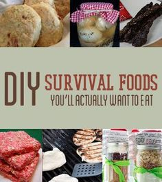 DIY Survival Foods You'll Actually Want To Eat | Easy and Quick Homemade Food Recipes For Emergency Preparedness by Survival Life at http://survivallife.com/2014/03/28/diy-survival-food/