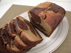 Peanut Butter and Chocolate Marbled Loaf