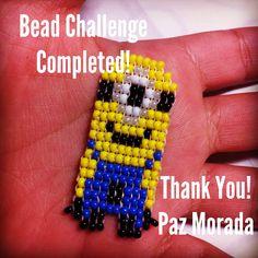Pony bead minion by Paz Morada