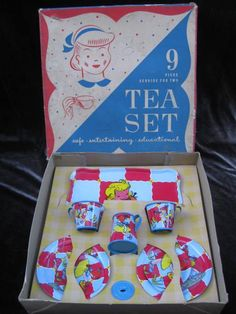 Ohio Art Child's Tea Set In Original Box + Bonus from kaleidoscope on Ruby Lane