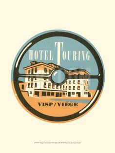 Vintage Travel Label IV Art Print at Art.com