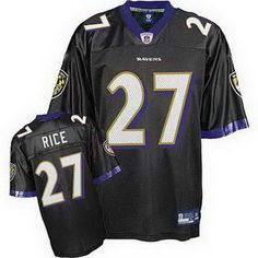 Baltimore Ravens 27 Rice zwart Jerseys