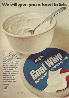 Cool Whip Original 1968 Vintage Print Ad Color by VintageAdarama, $9.99