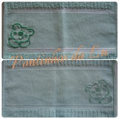 ponto cruz ursinho baby cross stitch toalha