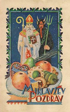 Saint Nick and a Krampus...yeah, he's Czech - let's call it a border issue.