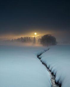 Walking through the quiet, dim path towards a brighter beginning.