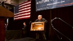 3/13/16 The BEST thing that happened today on the INTERNET. Imgur: Danny Devito brings his soapbox with him to endorse Bernie Sanders. #BernieSanders #FeelTheBern #DannyDevito