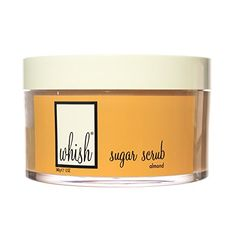 Whish  Almond Sugar Scrub  Exfoliate with Brown Sugar Organic Sugar Cane Raspberry Seed Bamboo Powder  Moisturize with Organic Shea Butter Organic Aloe Organic Raspberry Butter  12 oz * Check this awesome product by going to the link at the image.