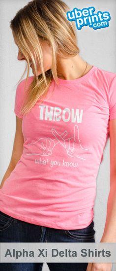 Create custom Alpha Xi Delta t-shirts at UberPrints.com. Design them  yourself 50327a6bb220c