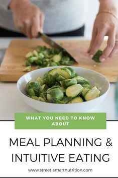 What You Need to Know About Meal Planning and Intuitive Eating with Whole Foods - reduce stress, waste less food, and always have options ( Smart Nutrition, Nutrition Plans, Nutrition Articles, Health Articles, Whole Food Recipes, Healthy Recipes, Registered Dietitian Nutritionist, Eat Slowly, Eating Disorder Recovery