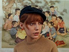 """Anne Wiazemsky in """"La Chinoise"""" (1967, Jean Luc Godard) /  Cinematography by Raoul Coutard"""