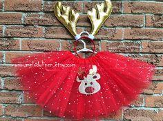 Christmas tutu reindeer tutu Christmas dress christmas outfit