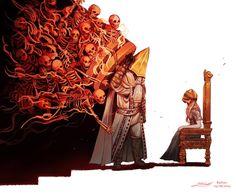 Alfred, Hunter of Vilebloods Artist : Rashuu Dark Fantasy, Fantasy Art, Angel Demon, Arte Dark Souls, Character Art, Character Design, Bloodborne Art, Soul Game, Dark Blood