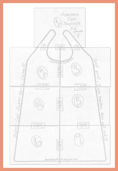 pattern for child's cape | DIY Superhero Capes {Printable Templates Included!!}