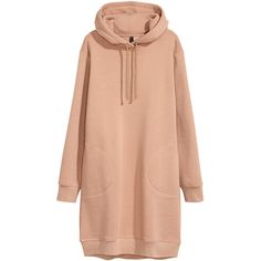 Hooded sweatshirt dress ❤ liked on Polyvore featuring dresses, long sleeve ribbed dress, mini dress, long-sleeve mini dress, lined dress and longsleeve dress