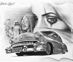 Ghetto drawing by Charles Laveso