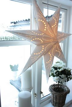Stunning star light.Think I'll waterproof it and hang in clusters & different sizes on my front porch or in the trees.