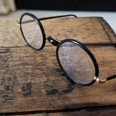 01f41d3c44 Antique Bausch and Lomb SQ Windsor Eyeglasses Black and 12K GF