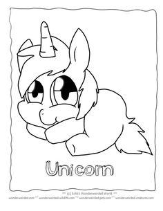 unicorn coloring pages for kids free to print at www wonderweirded