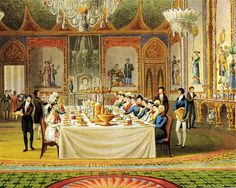 Painting of the Interior of The Royal Pavilion, Brighton, East Sussex