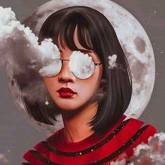 art, girl, and illustration image Art And Illustration, Cartoon Kunst, Cartoon Art Styles, Digital Art Girl, Anime Art Girl, Aesthetic Art, Aesthetic Drawings, Portrait Art, Girl Portraits