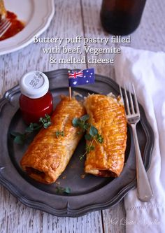 Happy Australia Day With Vegemite & Cheese Sausage Rolls! Aussie Food, Australian Food, Australian Recipes, Sausage Rolls Puff Pastry, Cheese Sausage, Thinking Day, Melted Cheese, Original Recipe, Food Items