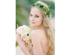 @Margaret Byrd Beauty - It's hard to rival the organic simplicity of an ivy-leaf wreath on half-up half-down hair. Part woodland fairy, part Roman laurel, equal parts elegant.