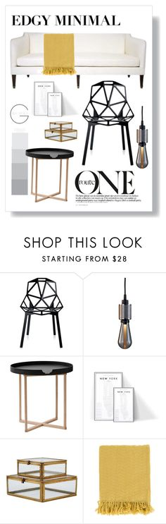 """""""Edgy Minimal"""" by designed-4-life ❤ liked on Polyvore featuring interior, interiors, interior design, home, home decor, interior decorating, Magis, Buster + Punch, .wireworks and Surya"""