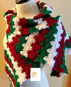 Light up someones day with this joyful holiday crochet scarf pattern. This is the perfect Christmas accessory to wear when singing carols throughout the entire month of December. All Free Crochet, Double Crochet, Easy Crochet, Crochet Baby, Christmas Crochet Patterns, Holiday Crochet, Christmas Crochet Blanket, Crochet Scarves, Crochet Shawl