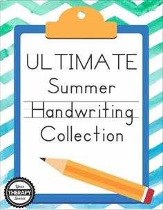 ULTIMATE SUMMER HANDWRITING PRINTABLE COLLECTION. a huge assortment of handwriting exercises and activities with a Summer theme. (AD)