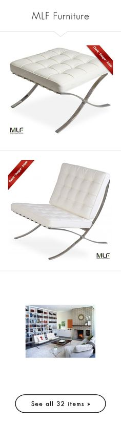 """""""MLF Furniture"""" by by-jwp ❤ liked on Polyvore featuring home, furniture, chairs, leather furniture, leather chair, ottomans, sofas, tables, accent tables and wire base table"""