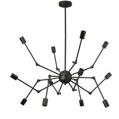 Check out the Dainolite DRS-4312C-MB Dresden 12 Light Chandelier with Adjustable Arm priced at $299.90 at Homeclick.com.
