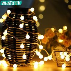 100 LED Globe String Lights - Fairy Ball Lights - Adapter Powered - LED Starry Lights For Indoor/Outdoor Decoration, Home Party, Garden (Warm White) Christmas Fairy Lights, Outdoor Christmas, Christmas Tree, Outdoor Halloween, Halloween Christmas, Christmas Wedding, Led A Pile, Outdoor Fairy Lights, Starry Lights