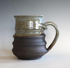 Unique Coffee Mug,16 oz, LARGE Mug, , handthrown ceramic mug, stoneware pottery mug, ceramics and pottery, pottery mug