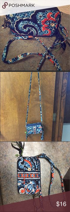 Vera Bradley Marrakesh Crossbody Reposhing, just bought this weekend. Doesn't fit my phone. Love the print, from Summer 2015. Original tags.. Gorgeous quilted pattern, soft. Big open pocket and room for cards. Just need a bigger bag! Yours for 15! Vera Bradley Bags Crossbody Bags