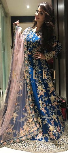 Buy Online from the link below. We ship worldwide (Free Shipping over US$100)  Click Anywhere to Tag Adaa Khan in Kalki blue anarkali suit with embossed in zardosi work This anarkali in shade of blue evokes a perfect blend of glamour and traditional styles. The silk ensemble embossed with zardosi and sequin work is quite a head turner!. Celebrity- Adaa Khan.