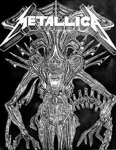 Metallica Band, Sick Tattoo, James Hetfield, Thrash Metal, Band Posters, Types Of Music, Concert Posters, Rock Music, Metal Art