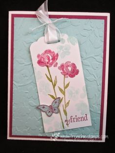 Stamp & Scrap with Frenchie: Painted Bloom,  Pink Making a difference