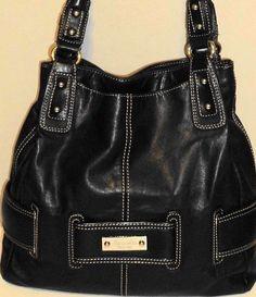 eb9b1c9c43 TIGNANELLO HANDBAG PURSE TOTE HOBO SHOULDER BAG BLACK LEATHER  fashion   clothing  shoes  accessories  womensbagshandbags (ebay link)