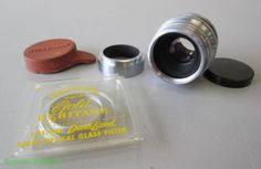 Wollensak-1-Inch-25mm-f-1-5-C-Mount-Cine-Raptar-Lens-w-Caps-Hood-Filter