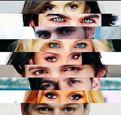 Elena, Damon, Stephan, Caroline, Bonnie, Jeremy, Matt, Rebeca, Elijah